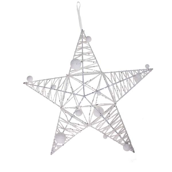 White Sparkle Star Decoration - 40cm