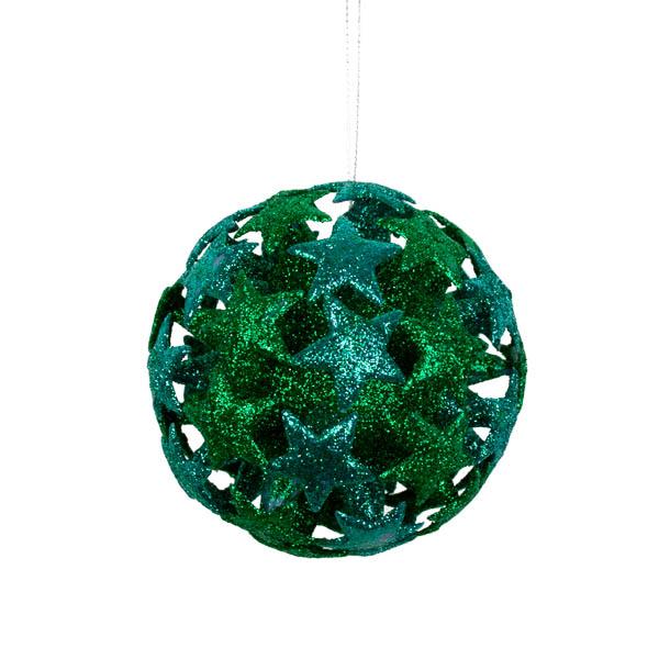 Green/Blue 3D Star Bauble - 80mm