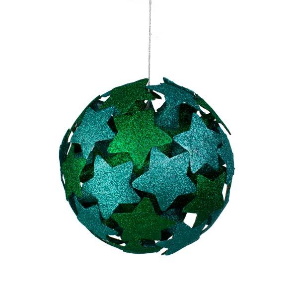 Green/Blue 3D Star Bauble - 200mm