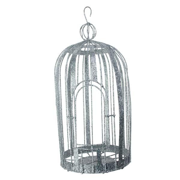 Silver Decorative Cage - 23cm