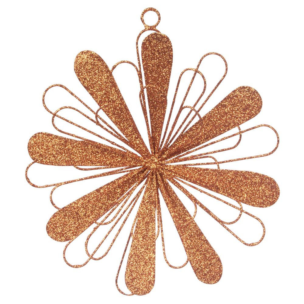 Copper Metal Starburst Hanging Decoration - 150mm