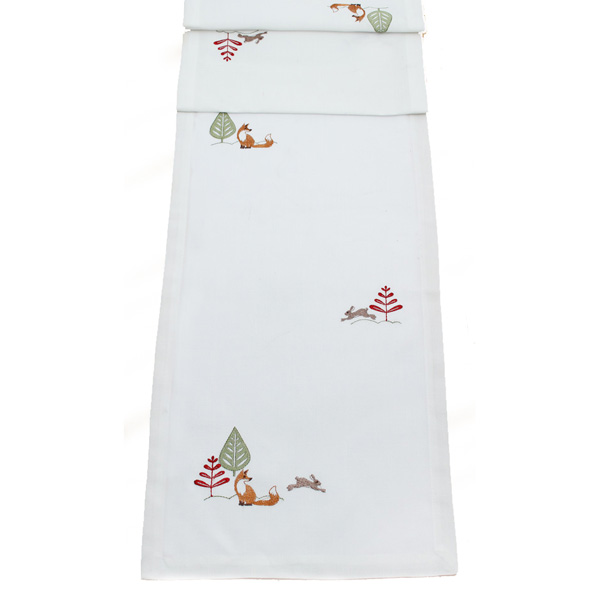Peggy Wilkins Forest Friends Design Table Runner - 35cm X 190cm (14 X 75 Inches)