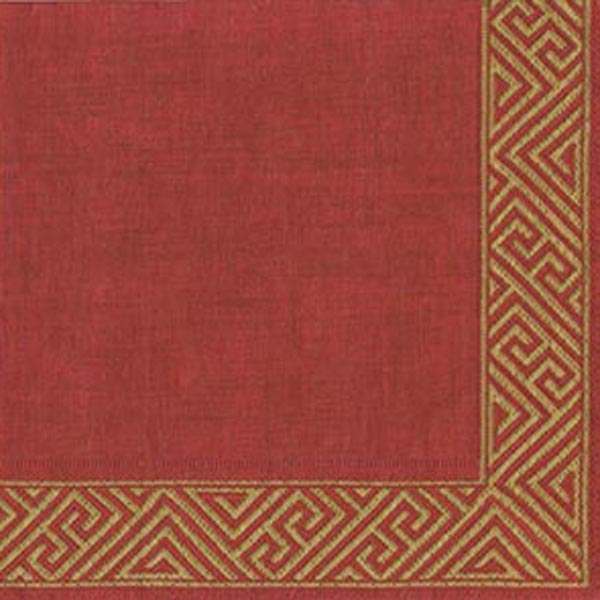 Pack Of 20 Burgundy Red Napkins - 33cm x 33cm