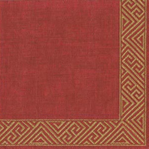 Pack Of 20 Burgundy Red Napkins - 33cm x 33cm