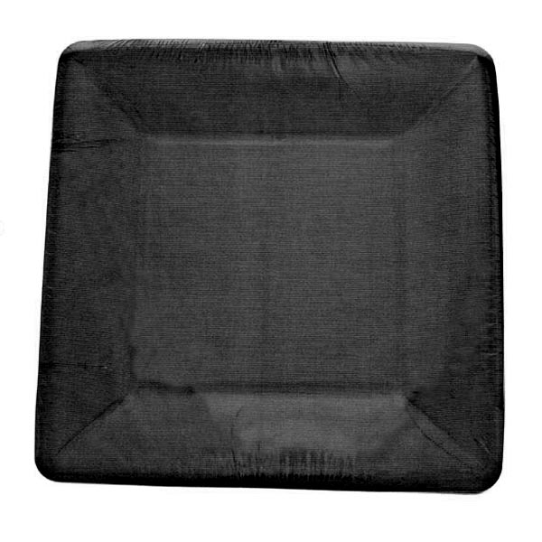 Black Disposable Square Dessert Plates - Pack Of 8