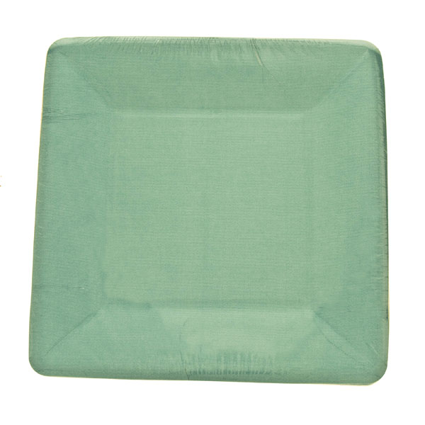 Blue Disposable Square Dessert Plates - Pack Of 8