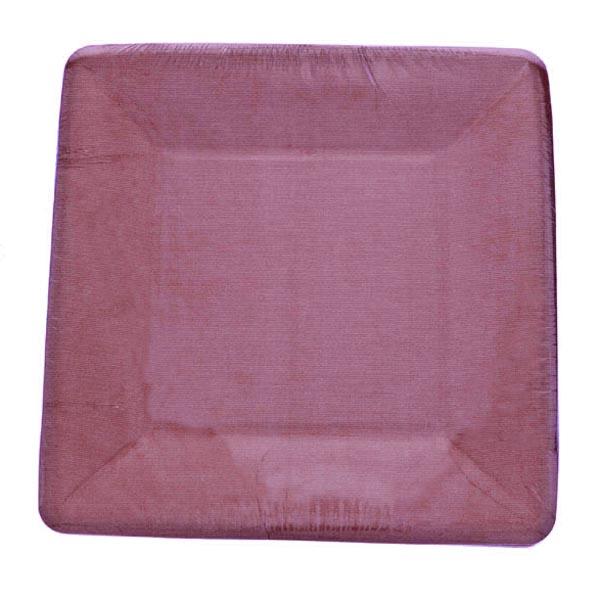 Aubergine Disposable Square Dessert Plates - Pack Of 8
