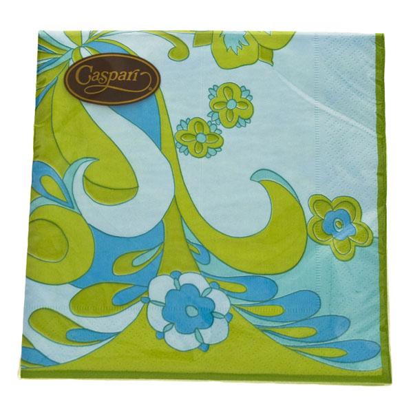 Disposable Lime/Blue Gigi Paper Napkins