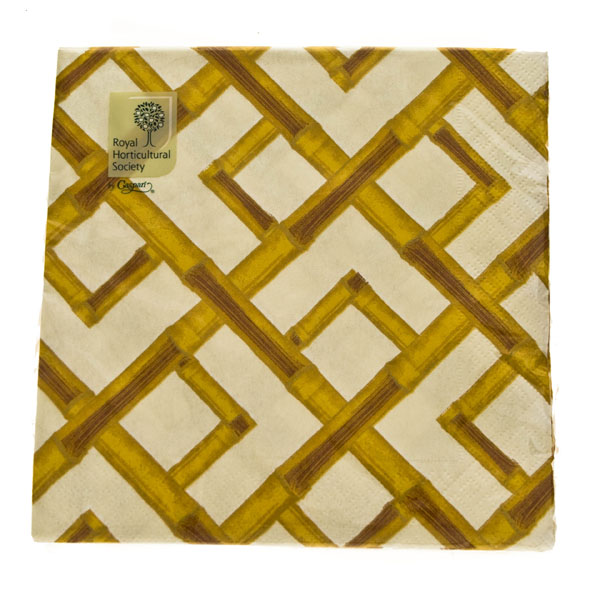 Natural Bamboo Design Paper Napkins