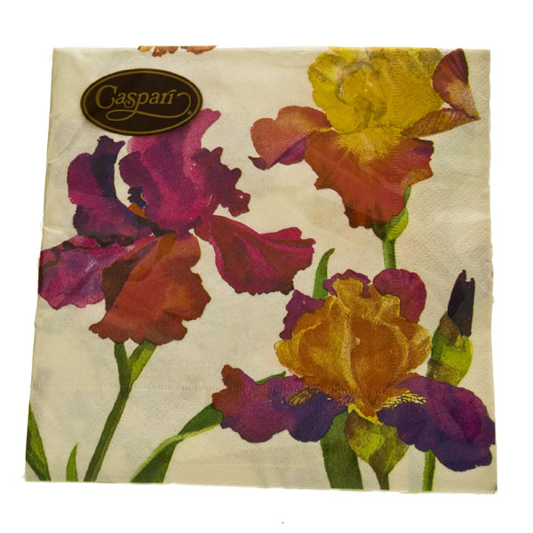 Irises Design Triple Ply Paper Napkins