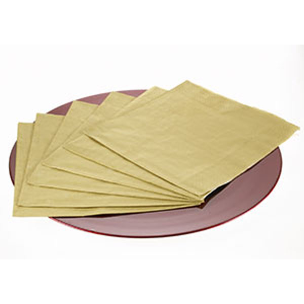 Packet of 20 Gold Dinner Napkins
