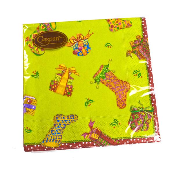 Christmas Lunch Napkins - Festive Stockings