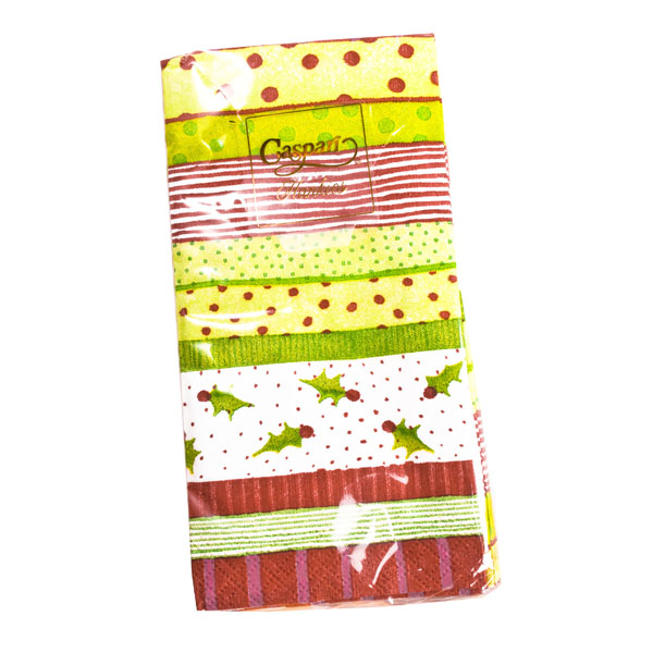 Jolly Holly Disposable Tissues