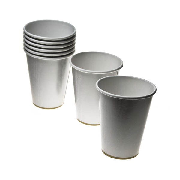 Silver Moire 9oz (266ml) Cups