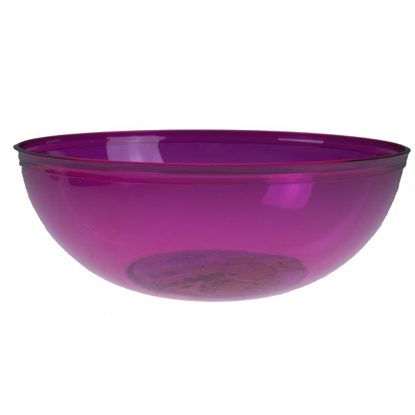 A Pink Mozaik Plastic Round Salad Bowl - 27cm