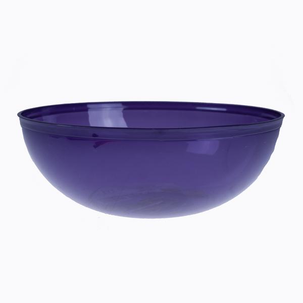 A Purple Mozaik Plastic Round Salad Bowl - 27cm