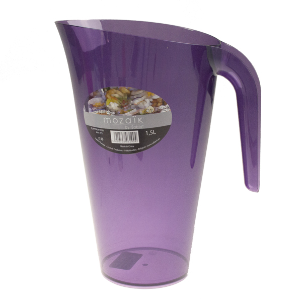 Mozaik Aubergine Coloured Plastic Pitcher 1.5L
