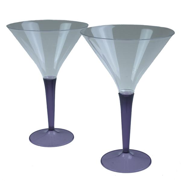 Mozaik Aubergine Coloured Stem Cocktail Glasses - Pack of 6
