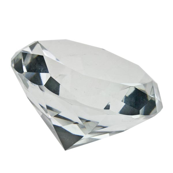 Clear Diamond Crystal Table Decoration - 7cm