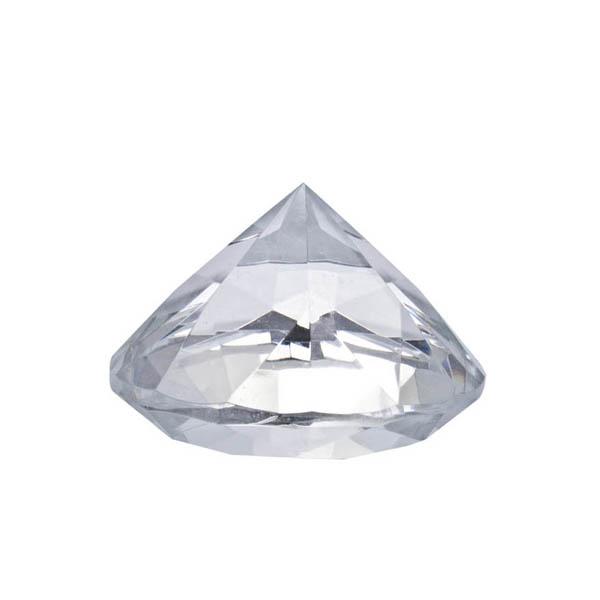 Clear Diamond Crystal Table Decoration - 4cm
