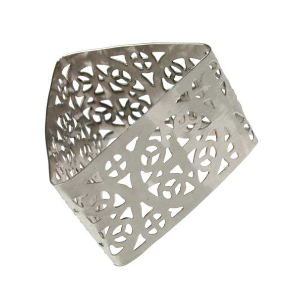 Silver Celtic Style Triangle Napkin Ring