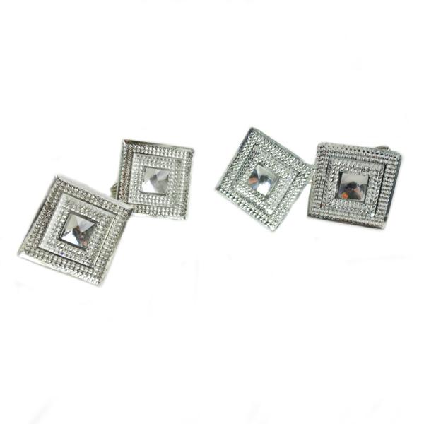 Square Faux Diamond Napkin Rings - 4 Pack