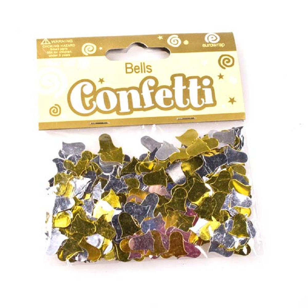 Gold & Silver Bell Party Table Confetti