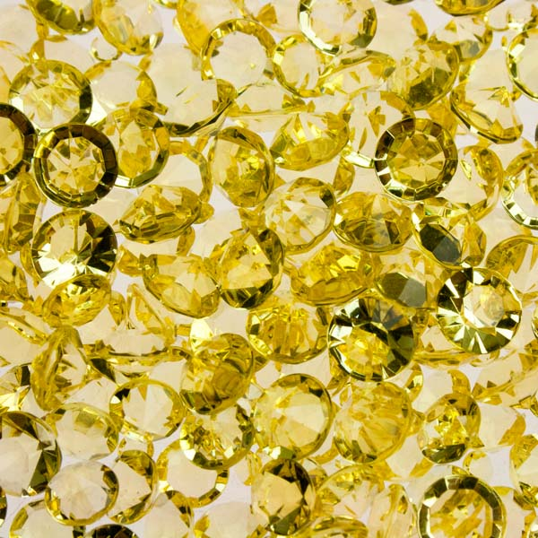 Gold Acrylic Assorted Diamonds - Pack Of 350