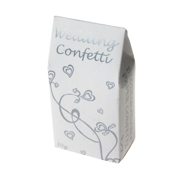 White and Silver Biodegradable Paper Confetti