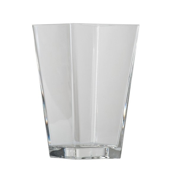 Clear Square Base Tapered Table Vase