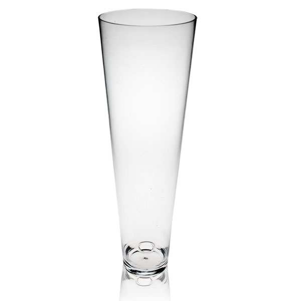 Conical Shaped Glass Vase With Cable Hole