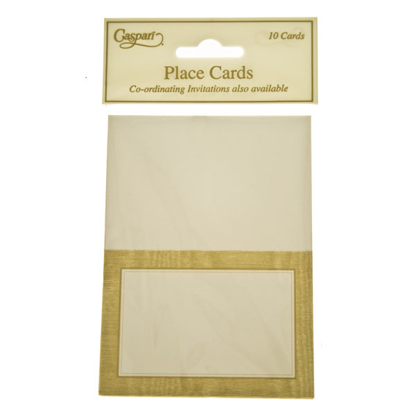 Gold Moire Place Cards - 10 Pack