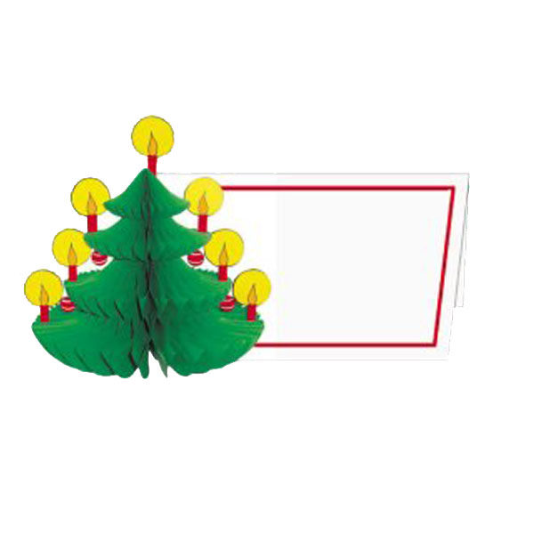 Christmas Tree Name Cards - Pack Of 6