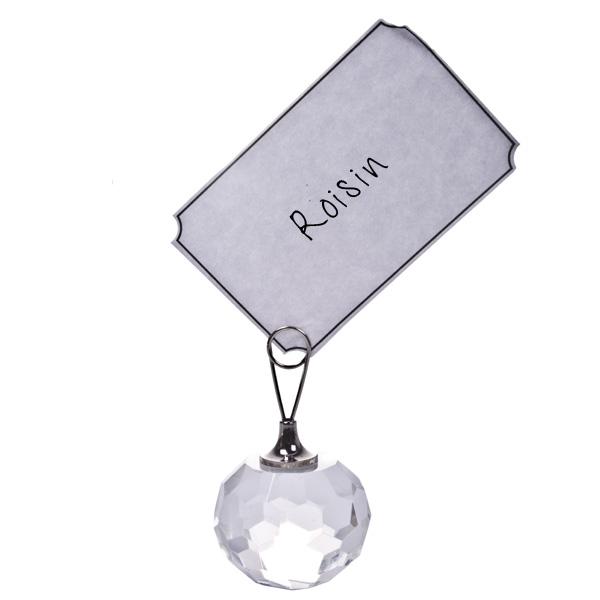 Gisela Graham Clear Crystal Placecard Holder - 5.5cm