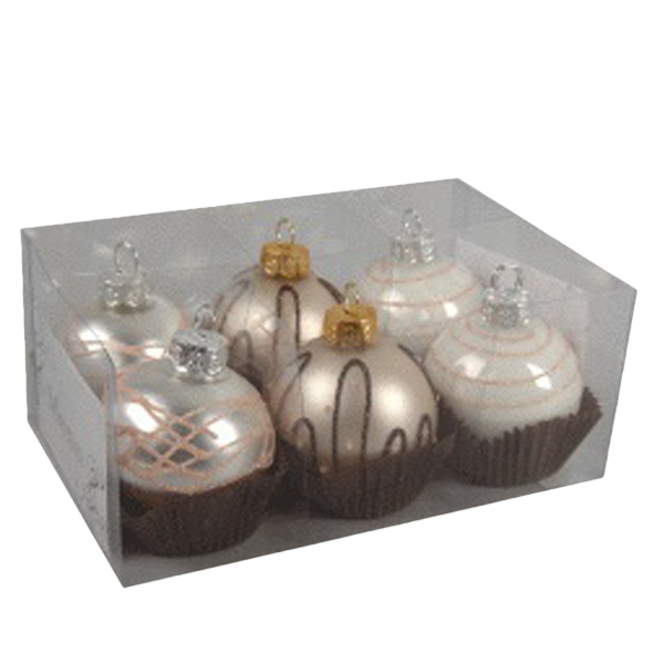Champagne Truffle Glass Placecard Holders - 6 x 50mm