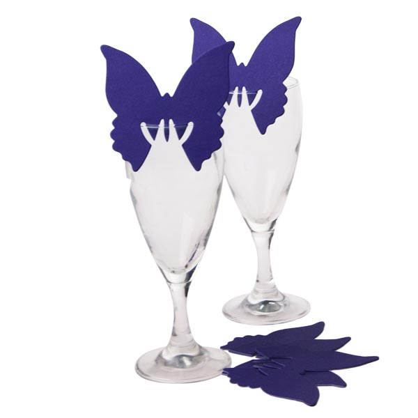 Purple Butterfly Place Cards - 10 Pack