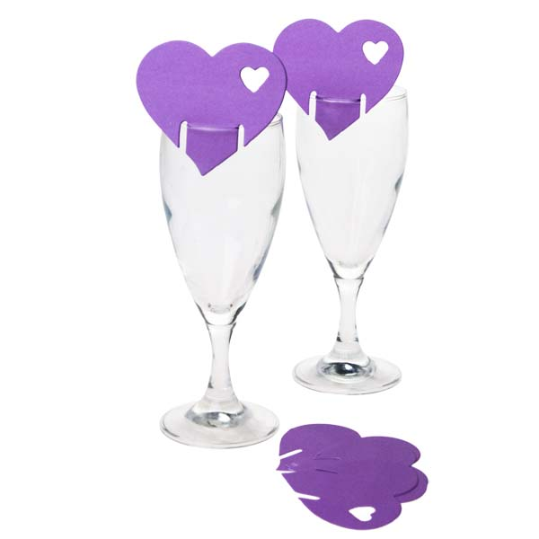 Lilac Heart Place Cards - 10 Pack