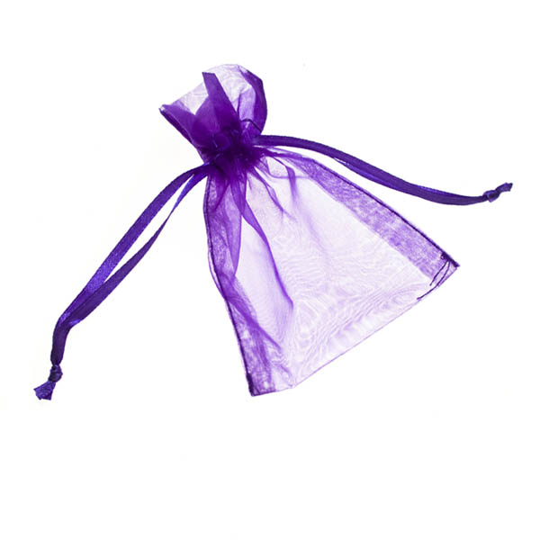 Purple Organza Favour Bag - 4 X 5 Inch