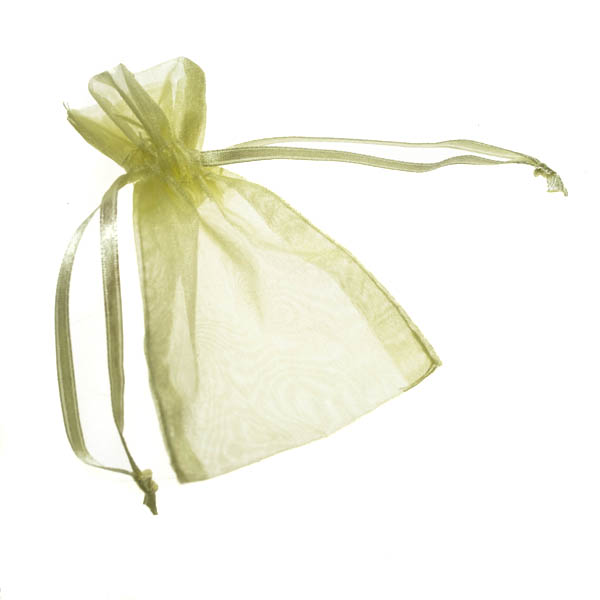 Lemon Organza Favour Bag - 3 X 4 Inch