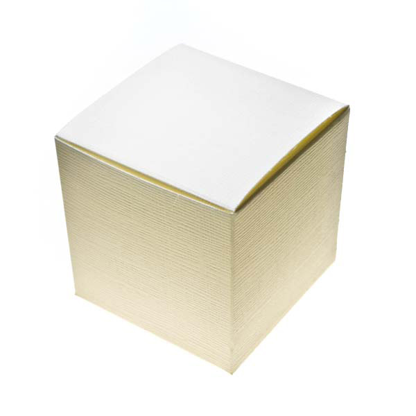 Ivory Silk Medium Cube Favour Box