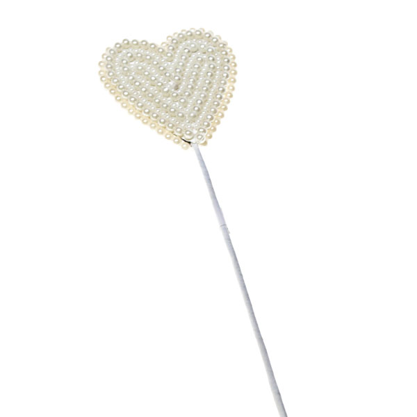 Ivory Pearl Heart Pick