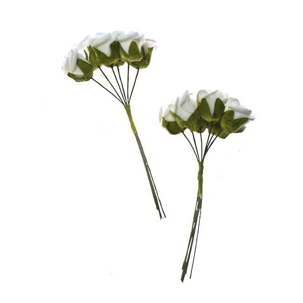 Ivory Rose Flower Bundles - 2 Pack