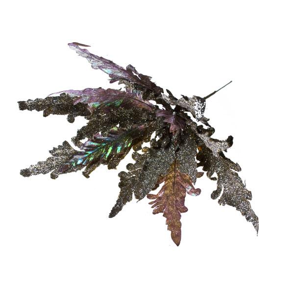 Platinum Laser Rainbow Poinsettia Pick - 25cm