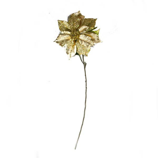 Gold Poinsettia Spray - 72cm