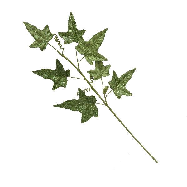 Olive Green Glitter Finish Ivy Spray - 68cm