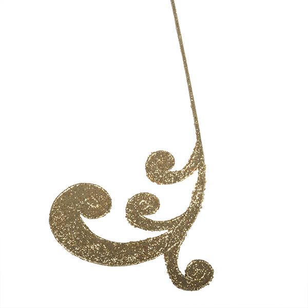 Gold Glitter Finish Regal Swirl Pick - 53cm