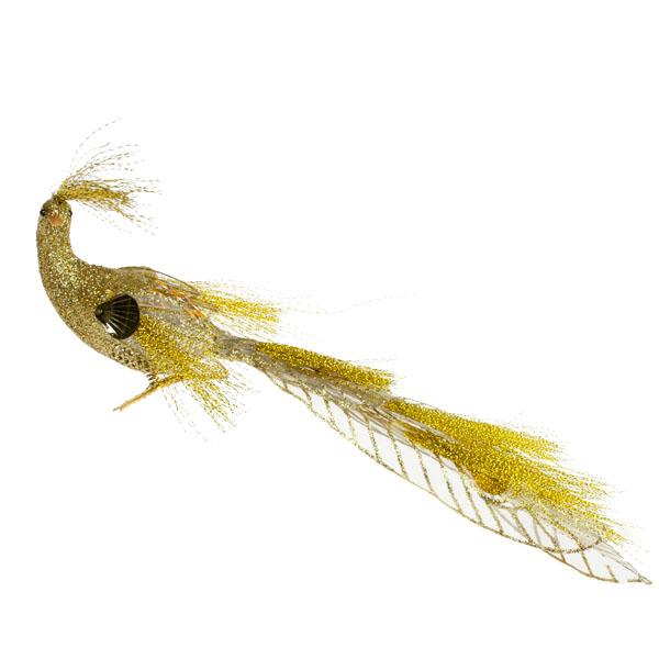 Gisela Graham Gold Jewel Sheer Peacock Clip - 30cm