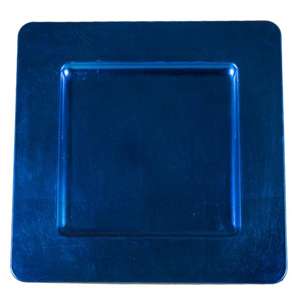 Standard Blue Square Charger Plate - 33cm x 33cm