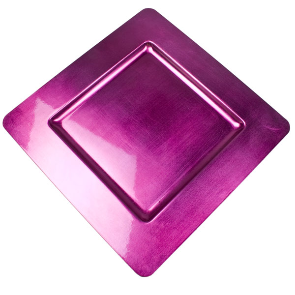 Standard Cerise Pink Square Charger Plate - 33cm x 33cm