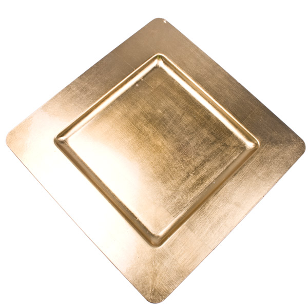 Standard Gold Square Charger Plate - 33cm x 33cm